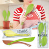 Flora - Pure Silicone Spoon and Spatula Set