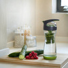 Full Circle Cucumber Infuser Glass Water Bottle