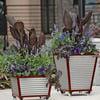 Galvanized Corrugated Metal Self-Watering Planters