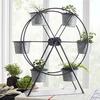 Galvanized Ferris Wheel Planter