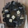 Galvanized Metal Bubble Wreath