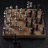 Giant Aluminum Chess Set