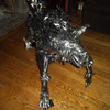 Giant Handmade Metal Wolf Sculpture