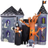 Giant Inflatable Halloween Haunted Castle - Stands 12' Tall!