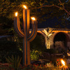 Giant Steel Saguaro Cactus Torches