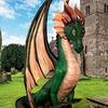 Gigantic Green Dragon Statue