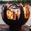 Gigantic Mountain Forest Fireball Fire Pit