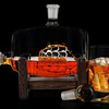 Glass Ship in a Whiskey Barrel Keg Decanter