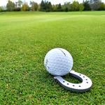 Good Luck Horseshoe Golf Ball Marker