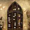 Gothic Wrought Iron Wine Bottle Rack