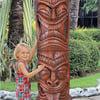 Grand Island Tiki Totem Pole Statue