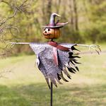 Halloween Jack O' Lantern Scarecrow Ground Stake