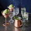 Hammered Copper Margarita Glasses
