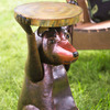 Handcrafted Metal Bear Side Table