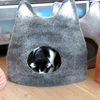 Handmade Cat Caves w/ Ears