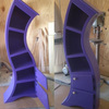 Handmade Curved Wooden Bookshelves