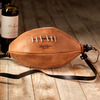 Handmade Leather Football Bota Wineskin
