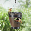 Hanging Dual Bird Feeder and Water Fountain