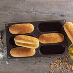Hot Dog Buns Silicone Baking Pan