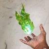 Illuminated Floating Fireball Props