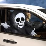 Inflatable Car Buddy - Grim Reaper Skeleton