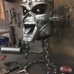 Iron Maiden Eddie the Head Fire Pit / Metal Art