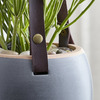 Leather Strap Hanging Planter