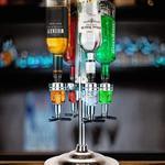 LED Illuminated 4 Bottle Rotating Liquor Dispenser