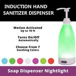 LED Lighted Soap Dispenser - Choose From 7 Soothing Colors