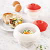 Lekue Ovo Egg Molds - Cook Eggs in Cube, Heart, and Cylinder Shapes