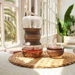 Lekue Tea Ritual Set With Rainfall-Effect Hourglass Infuser