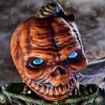 Life-Size Posable Pumpkin Skeleton with LCD LifeEyes