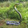 Lifesize King Cobra Snake Statue