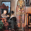 Lifesize King Tutankhamun Sarcophagus Cabinet