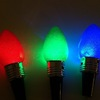 Lighted Holiday Bulb Wine Bottle Stoppers