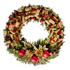 Lighted Wine Cork Wreath