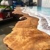 Live Edge Ocean Waves Desk