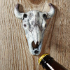 Longhorn Steer Skull Beer Bottle Opener