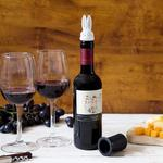 Magical Rabbit in a Top Hat - Bottle Stopper, Double Glass Pourer, and Wine Aerator