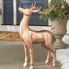 Majestic Copper Deer Statue