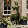 Majestic Moss Reindeer Statue