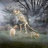 Massive 9 Foot Tyrannosaurus Rex Skeleton Statue