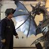 Massive Metal Dragon Sculpture