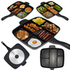 MasterPan - 5-in-1 Multi-Sectioned Nonstick Skillet