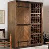 Mesa Sliding Barn Door Armoire - Rustic Wine Cellar / Liquor Cabinet