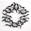 Metal Halloween Wreath Of Bats