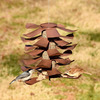 Metal Pine Cone Bird Feeder