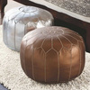 Metallic Leather Poufs