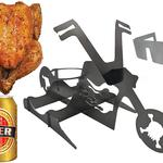 Motorcycle Beer Can Chicken Stand