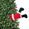 Mr. Christmas Animated Kicking Santa and Elf Legs - Stuck In The Christmas Tree Decor